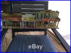 VINTAGE 1950S MARX COWBOY ROY ROGERS MINERAL CITY PLAY SET Tin