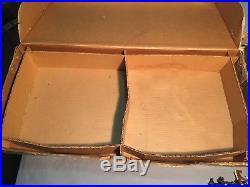 VINTAGE 1960's MARX GIANT BLUE & GRAY CIVIL WAR BATTLE SET WITH BOX & MANY PARTS