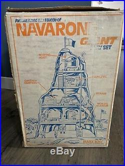 VINTAGE 1977 MARX BATTLEGROUND (BATTLE of NAVARONE) GIANT PLAYSET WWII WW2 Army