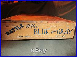 VINTAGE 50s MARX TOY BATTLE OF THE BLUE AND GRAY SERIES 3000 CIVIL WAR PLAY SET
