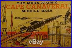 VINTAGE 60s MARX ATOMIC CAPE CANAVERAL MISSLE BASE PLAYSET IN ORIGINAL BOX