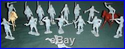 VINTAGE MARX 1950s CAPTAIN GALLANT PLAY SET WITH TIN LITHO FORT 60-65 MM FIGURES