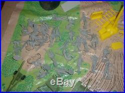 VINTAGE MARX BATTLEGROUND (BATTLE of NAVARONE) PLAYSET WithBOX 3412
