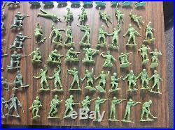 VINTAGE MARX BATTLEGROUND IWO JIMA DESERT FOX PLAYSET WWII LOT 254 + Acc