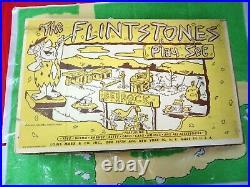 VINTAGE MARX FLINTSTONES 1960's BEDROCK HANNA BARBERA PLAYSET BOXED! JOEZETA