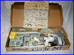 Vintage Marx Medieval Castle Play Set 4727 Box With Instructions Nice See Pic