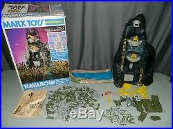 VINTAGE MARX NAVARONE 3412 PLAYSET With BOX FIGURES GUNS MAT INSTRUCTIONS VEHICLES