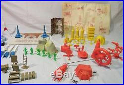 VINTAGE MARX OPERATION MOON BASE PLAYSET 4654 VG condition Near Complete