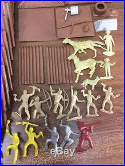 Vintage Marx Rin Tin Tin At Fort Apache Playset Parts Lot