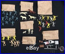 VINTAGE MARX RIN TIN TIN FORT APACHE PLAYSET withBOX BAGGIES & INSTRUCTIONS #3627