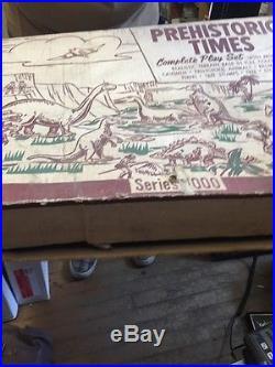 Vintage Marx Series 1000 Prehistoric Times Dinosaur Playset With Box
