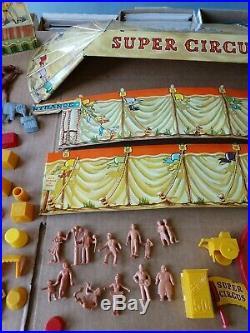 VINTAGE MARX SUPER CIRCUS PLAY SET 1950s No. 4319 BEAUTIFUL TIN LITHO withBox