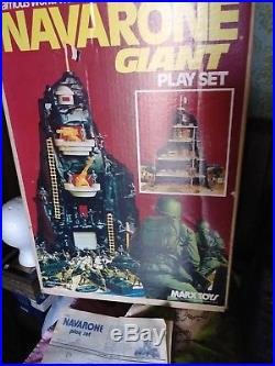 VINTAGE MARX TOYS NAVARONE GIANT PLAY SET w box. Instructions play mat 1970s
