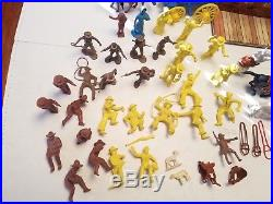 VINTAGE MARX WESTERN TOWN PLAYSET BOXED 1950's JAIL SIDE COWBOY BOX FIGURES TOY