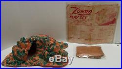 VINTAGE MARX ZORRO SERIES 500 No. 3753 PLAYSET WITH BOX NICE