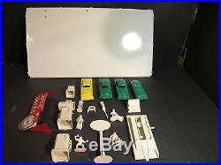 Vintage MID 1950's Marx Service Station Play Set With 19 Original Accessories
