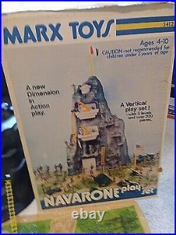 VINTAGE NAVARONE PLAYSET #3412MARX TOYSPlay Both Back & Front2'High200+ Pcs