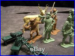 Vintage Play Set Marx Robin Hood And The Merry Men Figures Neat