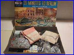 VINTAGE RARE 1950s, MARX 20 MINUTES TO BERLIN MINIATURE PLAYSET WithBOX