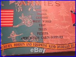 VINTAGE RARE 1960s, MARX MINIATURE BLUE & GRAY ARMIES PLAYSET WithBOX