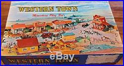VINTAGE RARE 1960s, MARX MINIATURE WESTERN TOWN PLAY SET