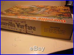 VINTAGE RARE 1964 MARX MINIATURE GUERRILLA WARFARE PLAYSET With BOX, MINT