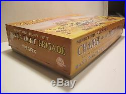 VINTAGE RARE'60s, MARX MINIATURE CHARGE OF THE LIGHT BRIGADE PLAYSET WithBOX