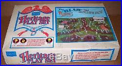 VINTAGE SEARS HERITAGE THE BLUE AND THE GRAY PLAYSET WithBOX EXCELLENT