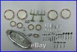 VINTAGE SINDY DINING ROOM PLAYSET TABLE CHAIRS And Accessories Marx Toys
