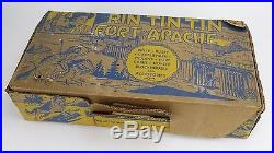 VTG 1956 Louis Marx Rin Tin Tin at Fort Apache Play Set Figurine Toys with Box