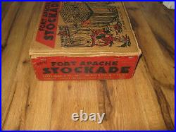 VTG Fort Apache Stockade Louis Marx Playset #3609 1950s Western Rare BOX ONLY
