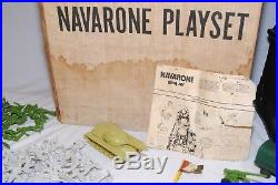 VTG Marx Navarone Playset 3412 with instructions, tons of extra's 100's of men