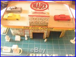 Very Vintage 1950's Marx Modern Service Center With Box! A TREASURE