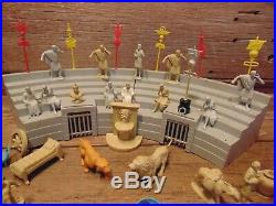 Vintage 1950's BEN HUR Marx PLAYSET With MANY FIGURES PARTS