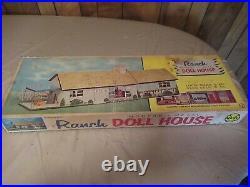 Vintage 1950's MARX Ranch Modern Metal Dollhouse play set