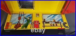 Vintage 1950's Marx Automatic Car Wash Garage Tin Litho With Original Box EX