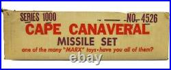Vintage 1950's Marx Cape Canaveral NASA Astronaut Missile Base Play Set withBox