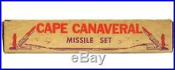 Vintage 1950's Marx Cape Canaveral Space Base Astronaut Rocket Missile Playset