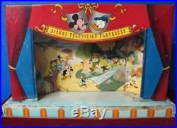 Vintage 1950's Marx Disney Television Playhouse Mickey Mouse Set