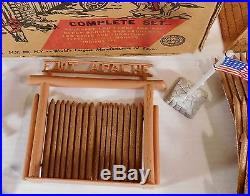 Vintage 1950's Marx Fort Apache Play Set with Original Box & Instructions