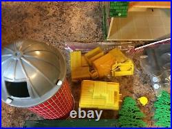 Vintage 1950's Marx Lazy Day Farm Tin Barn with Lots of Nice Accessories