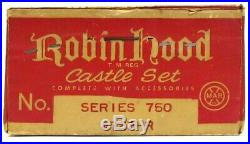 Vintage 1950's Marx Robin Hood Medieval English Castle Playset withBox EX