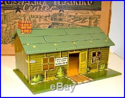 Vintage 1950s Marx Army Training Center Playset in Box with Rare Troop Truck