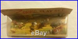 Vintage 1950s Marx Europe Disney Disneykin Zorro Miniature Playset New in Box