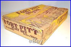 Vintage 1950s Marx Fort Pitt Stockade Playset in Original Box