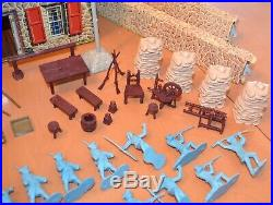 Vintage 1950s Marx Revolutionary War Playset in the Original Box
