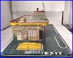 Vintage 1950s Marx Tin Litho Service Center Skyview Parking Garage