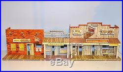 Vintage 1950s Marx Western Town Playset Tin Streetfront NR