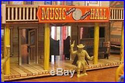 Vintage 1952 Marx Silver City Western Town Playset Buildings Figures Furniture