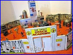 Vintage 1952 Marx Tom Corbett Space Academy Play Set In Box Not Complete Toy